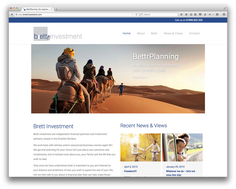 Brett Investment new website