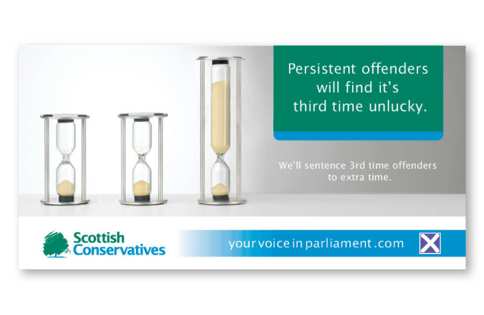 Advertising: Scottish Conservatives - 48 sheet poster
