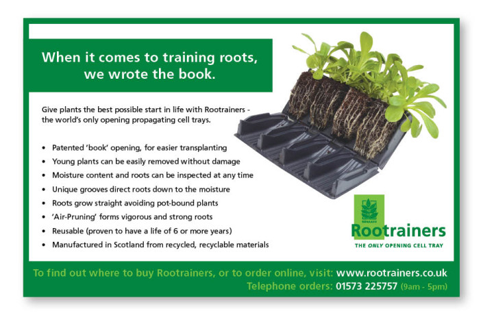 Advertising: Ronaash Rootrainers - Gardening magazines