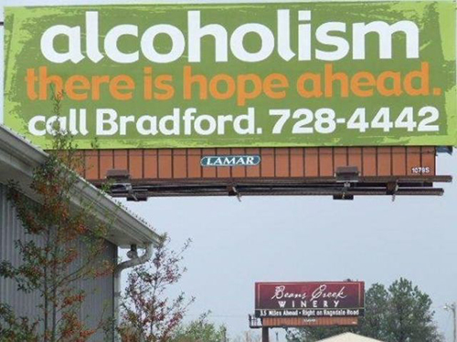 Alcoholism ad placement fail
