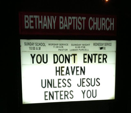 Bethany Baptist Church message fail