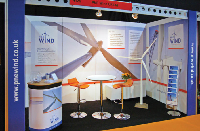 Events & Exhibitions: PNE Wind UK - All Energy exhibition stand