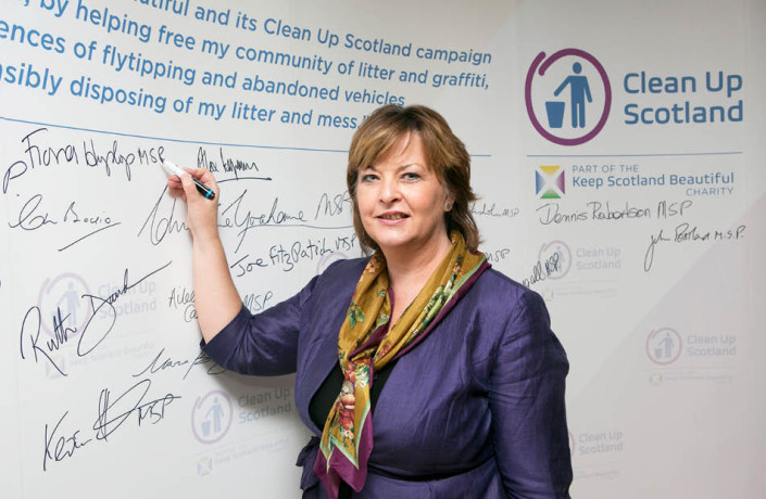 Exhibitions & Events: Clean Up Scotland - Campaign launch