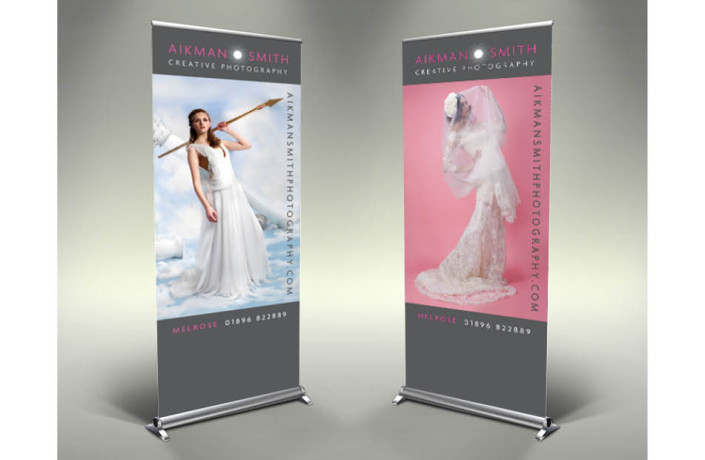 Exhibitions & Events: Aikman Smith - Pop up banners