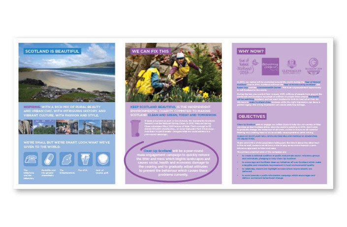 Graphic Design: Clean Up Scotland - Campaign handout