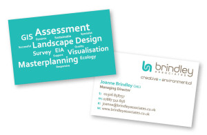 Graphic Design: Brindley Associates - Business card