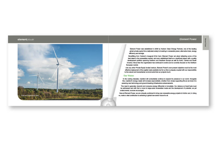 Graphic Design: Element Power - Corporate brochure