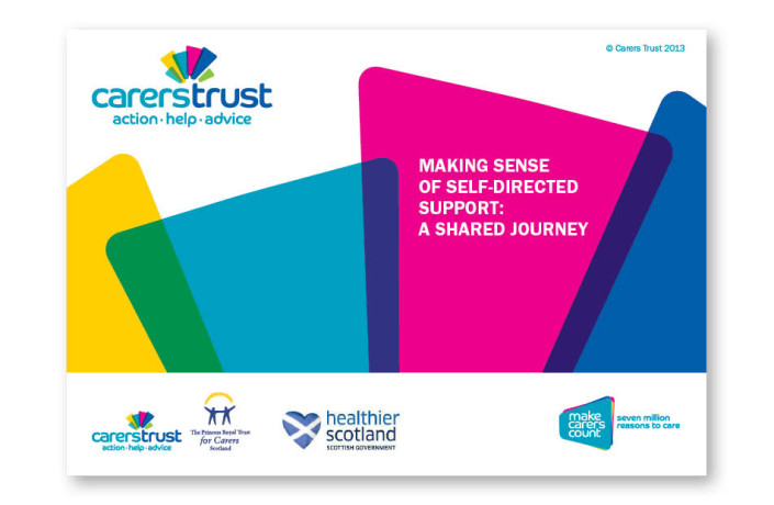 Graphic Design: Carers Trust - Suite of course instruction guides