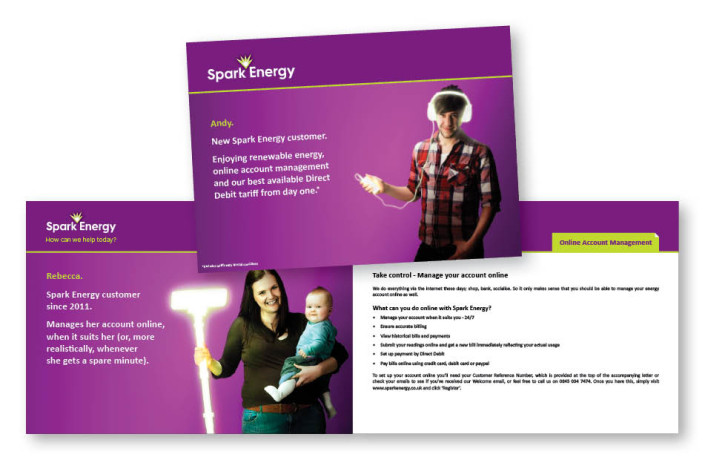 Graphic Design: Spark Energy - New customer welcome brochure