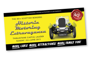 Graphic Design: BVAC - Historic Motoring Extravaganza flyer