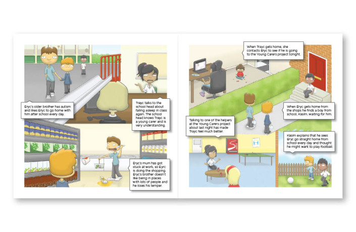 Graphic Design: Princess Royal Trust for Carers - Young Carers awareness booklet