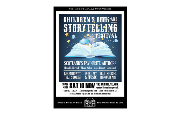 Graphic Design: The Haining - Children's Storytelling Festival poster