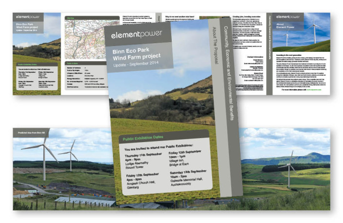 Graphic Design: Element Power - Wind farm proposal newsletter