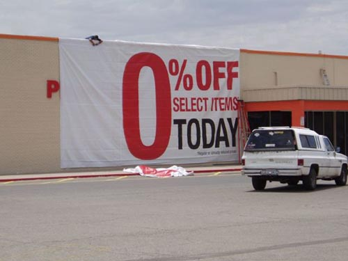 Sale sign fail