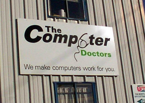 The Computer Doctors design fail