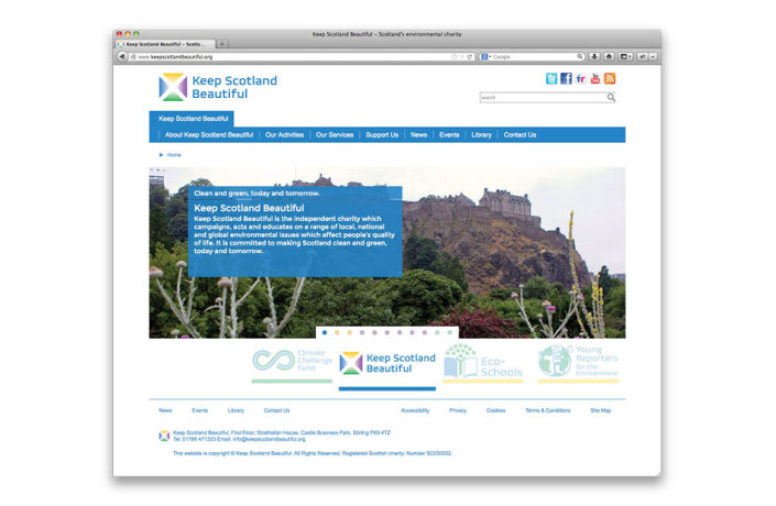 Web Design: Keep Scotland Beautiful