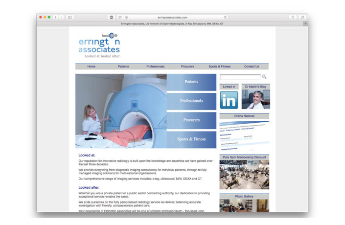 Web Design: Errington Associates
