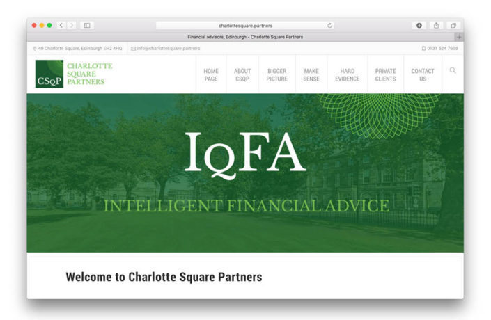 Web Design: Charlotte Square Partners