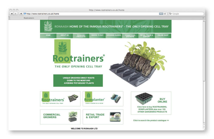 Web Design: Ronaash Rootrainers