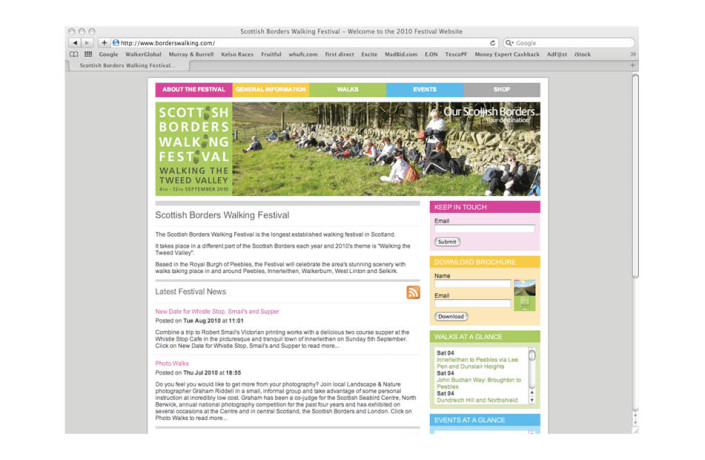 Web Design: Scottish Borders Walking Festival