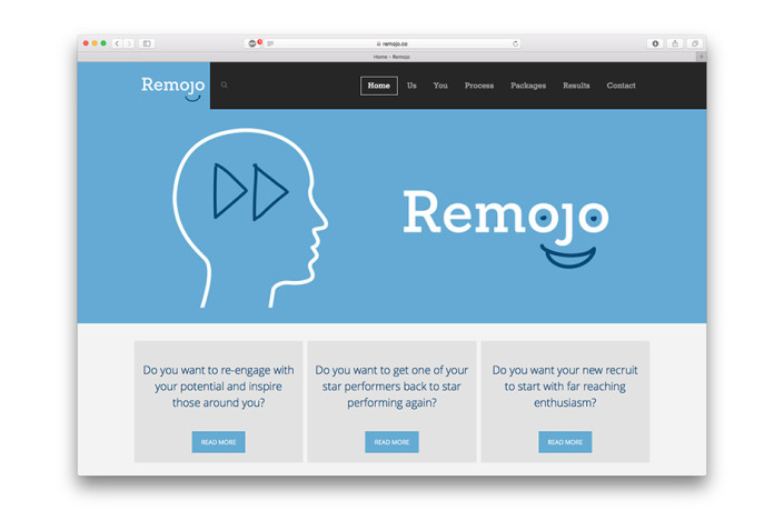Remojo - Website design and development