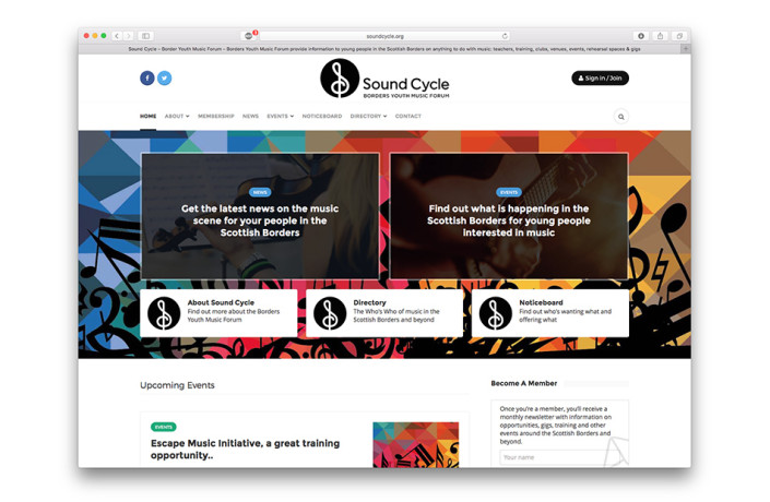 Sound Cycle - Wesbite design and development