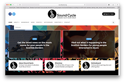 Sound Cycle website design and development