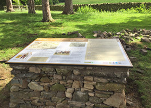 March Wood interpretation board