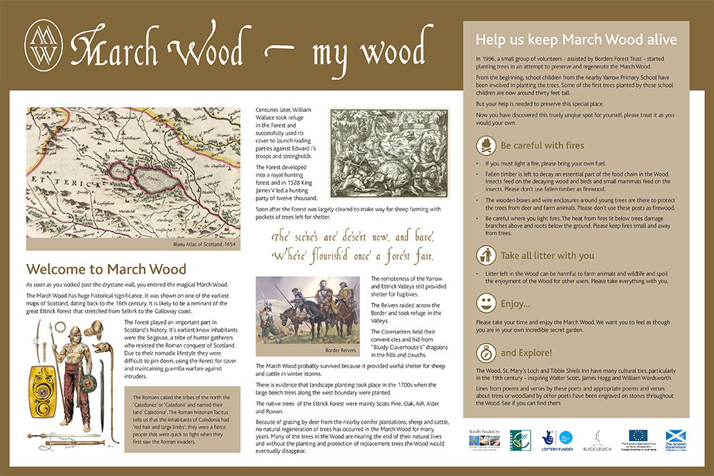 March Wood - Interpretation Board