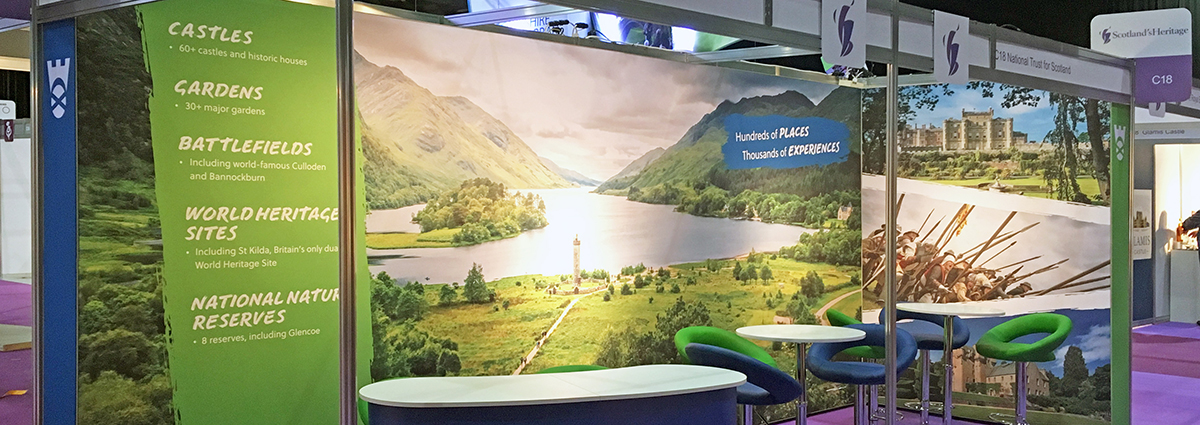 National Trust for Scotland - VisitScotland Expo stand