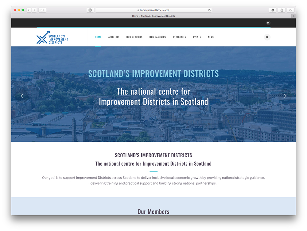 Scotland's Improvement Districts website