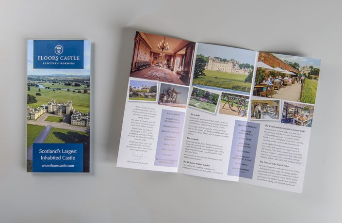 Graphic Design: Floors Castle leaflet