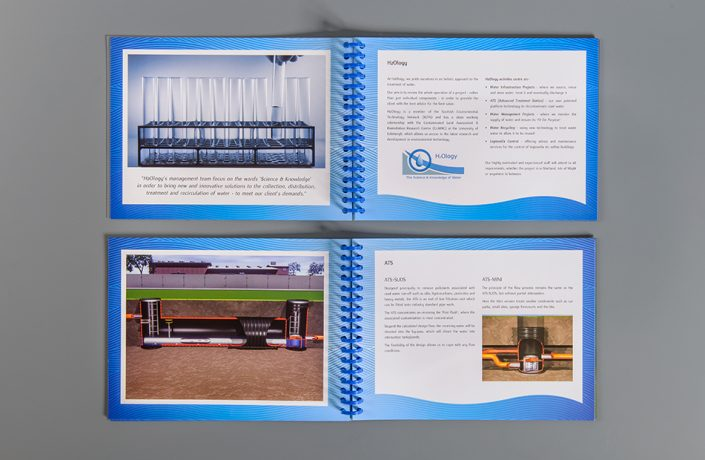 Graphic Design: H2Ology sales brochure