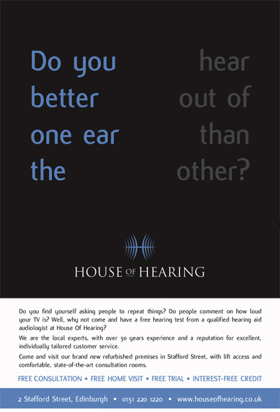 House of Hearing - Advertising