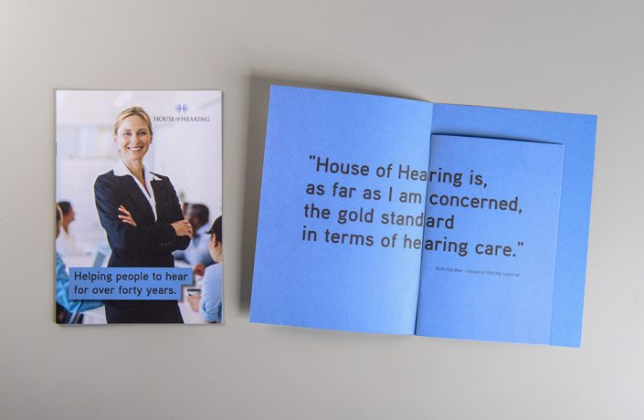 Graphic Design: House of Hearing brochure