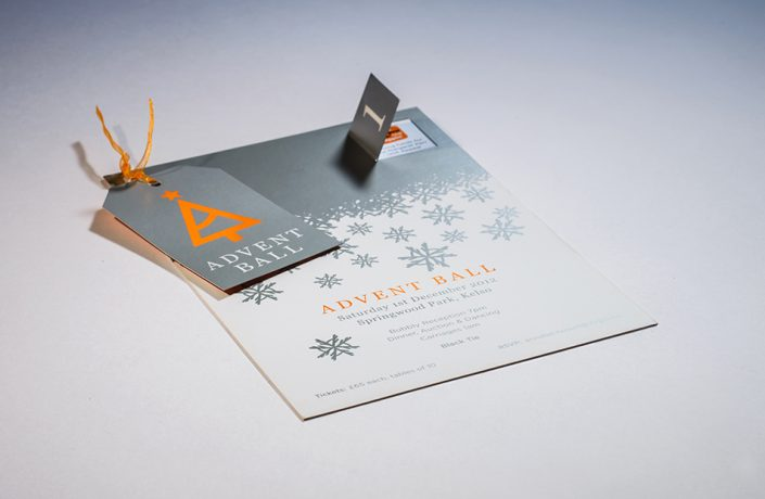 Graphic Design: Advent Ball invitation