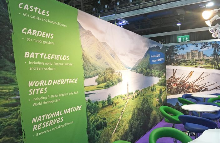 Exhibitions & Events: National Trust for Scotland VisitScotland Expo stand