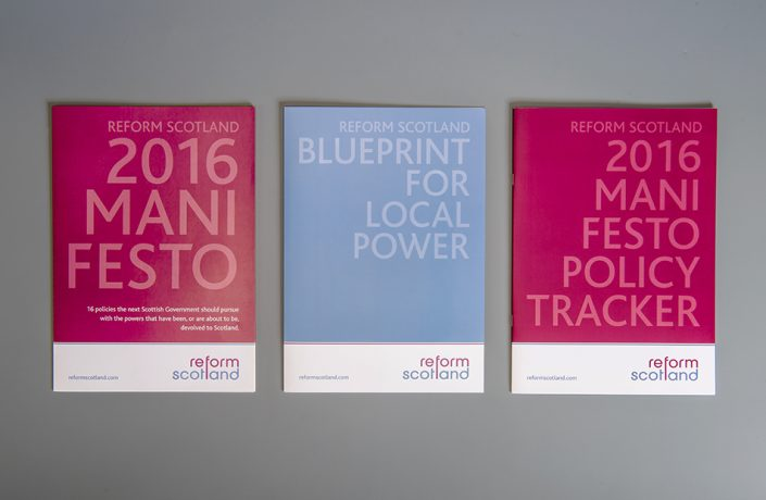 Graphic Design: Reform Scotland manifestos