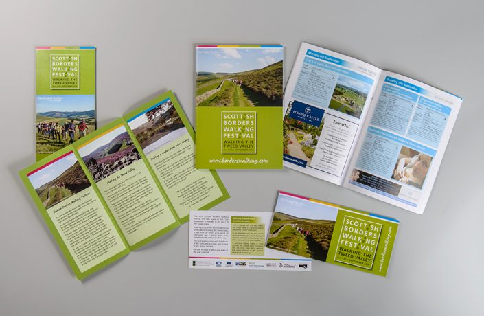 Graphic Design: Scottish Borders Walking Festival marketing literature
