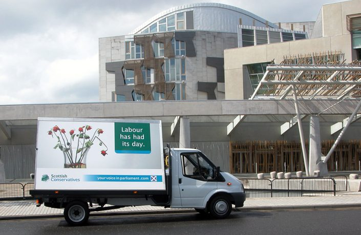 Exhibitions & Events: Scottish Conservatives parliamentary election campaign