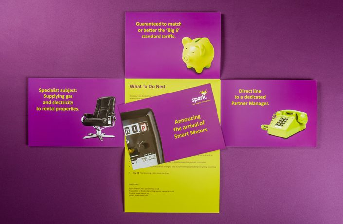 Graphic Design: Spark Energy marketing brochure