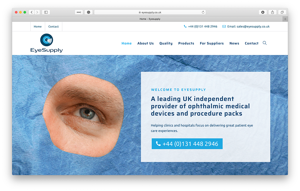 EyeSupply website