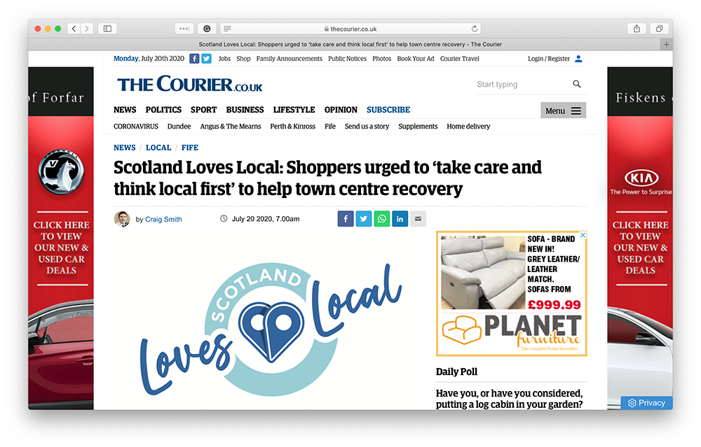 Scotland Loves Local - Courier