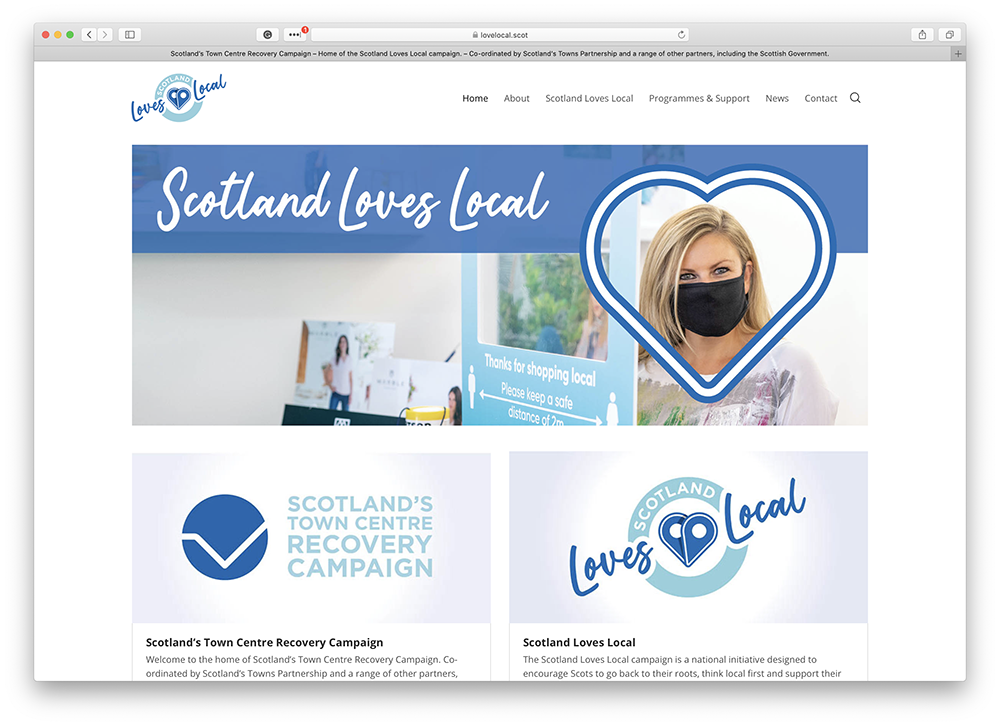 Scotland Loves Local Website